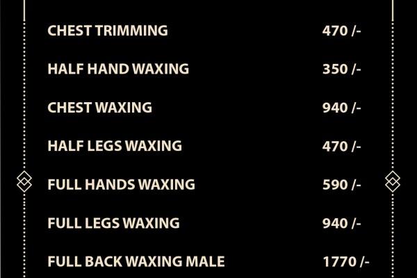 jawed habib waxing price list