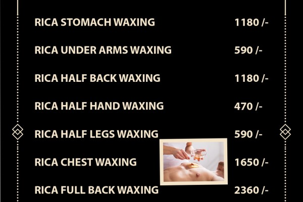 rica wax charges in salon